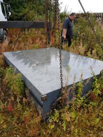 Solid slab 9 tonne of engineered granite.
