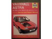 Vauxhall Astra Owner's Manual / Handbook 1991 - 1998 Model