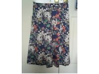 Size 8 NEW with tags on. Monsoon summer skirt 98% cotton, vintage pattern