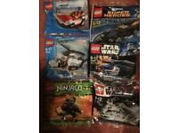 Lego Factory Sealed poly bags Star Wars lord of the rings city ninjago super heroes Mini figures