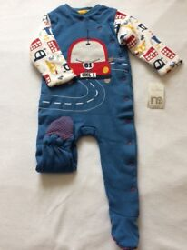 New Mothercare winter sleepsuit 9-12 months