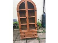 Glass cabinet-wooden with glass doors