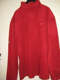 Large Red High Neck Sweater with U2 Logo