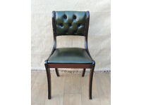 Antique Green Chesterfield Leather chair (Delivery)