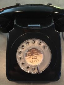 Original 1970s GPO 746 rotary phone, black, in great condition