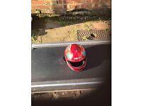 Kids Red Motorbike Helment