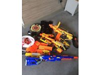 Nerf gun bundle includes gun bullets jacket target all working fine!