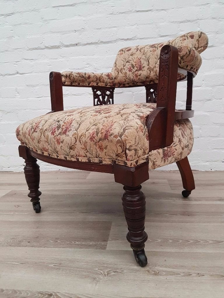 Antique Parlour Chair (DELIVERY AVAILABLE FOR THIS ITEM OF FURNITURE)
