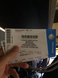 Bastille & Vaccines TONIGHT tickets!! 2