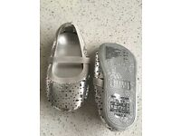 Size U.K. 2.5 baby silver shoes