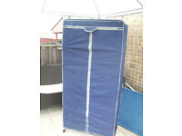 blue folding fabric camping wardrobe for camper tents caravans home