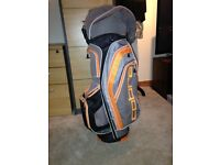 Grey and orange cobra golf bag