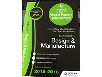 SQA Hodder Gibson National 5 Design and Manufacture Revision Past Papers 2015-16