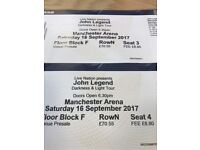 John Legend Tickets for Saturday 16th Sept Manchester Arena