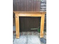Solid Pine Fire Surround and Mantle