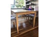 Solid oak dining table - by Made - good condition. Scandi style.