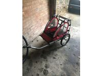 Single seater bike trailer