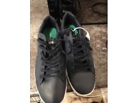 Lacoste Trainers brand new outgrown before worn with tags on 9 1/2