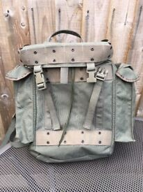 Dutch olive green nylon combat pack rucksack. Interesting rucksack. Good condition