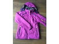 Dare2be womens ski purple jacket size 10 and fleece Regatta top