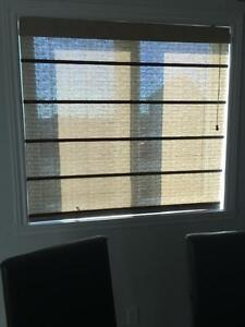 Matching Set of Window Shades Brown and beige