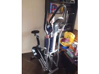 Assembled 2-in-1 Fitness Elliptical Exercise Bike - Collection Only
