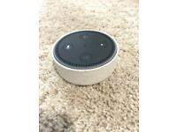 Amazon Echo Dot in black with official sandstone case