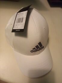 Adidas white baseball cap NEW with tags