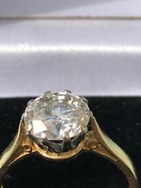 Stunning 2 Carat diamond solitaire engagement ring Valuation £20k