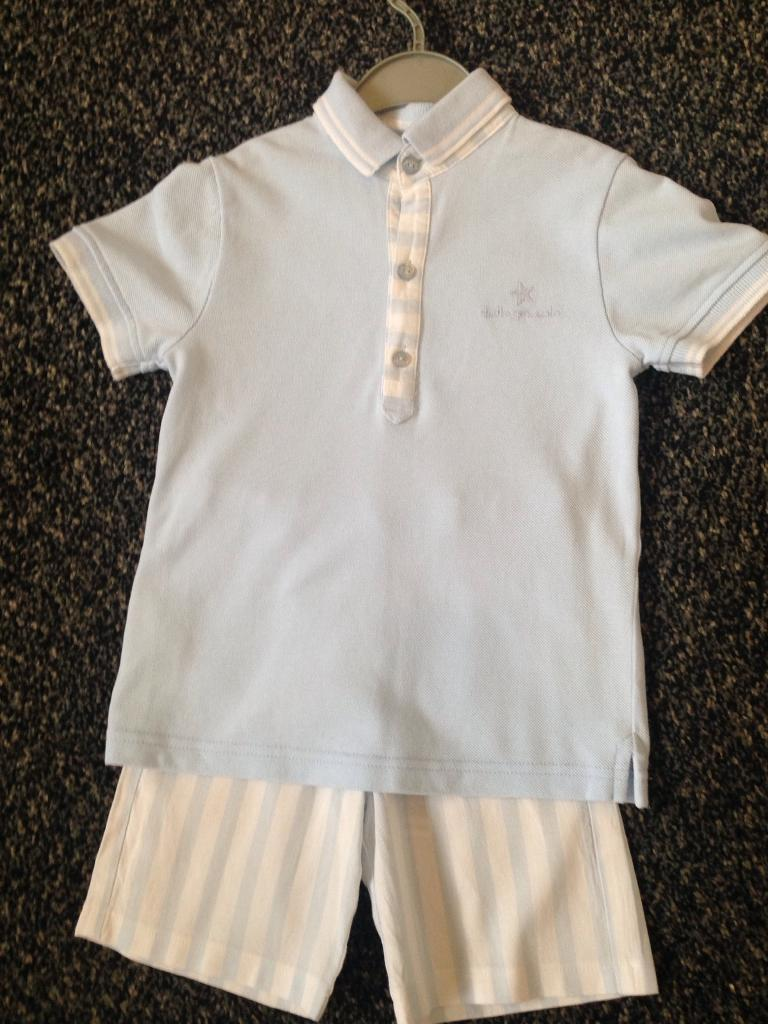 boys baby blue (tutto piccolo) outfit