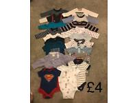 Baby boys bundle 0-3months