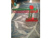 Vintage Meccano crane