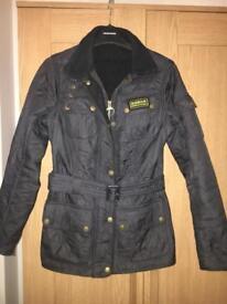 Size 6 Navy Barbour Coat