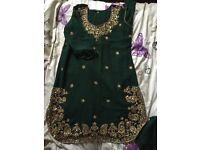 Green asian clothes