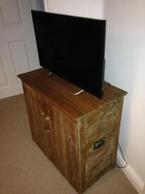 Antique rustic pine cabinet