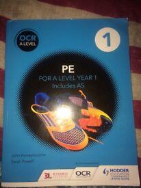 OCR A LEVEL PE BOOK - Brand new