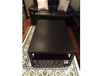 Black Brown Coffee Table in excellent condition
