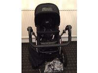 OBaby ZeZu Black 2-in-1/Pramette Pushchair Single Seat ...