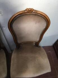 4 x antique chairs beautiful design