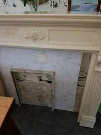Beautiful heavy fireplace