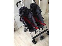 Maclaren double twin pushchair