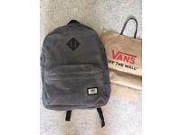 Vans backpack never used