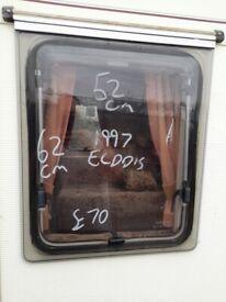 1997 elddis caravan rear side window