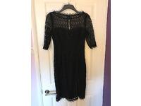 Black lace Coast dress size 12.