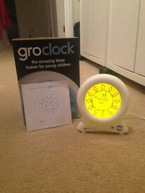Gro Clock. Perfect condition. Smoke free home. Perfect for teaching young children to stay in bed!