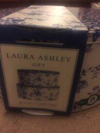 Laura Ashley Cake Tins x2