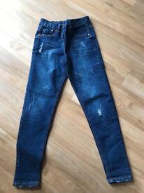Girls age 8-9 Boyfriend style jeans