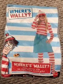 Girls where's Wally fancy dress costume 7-9 Years