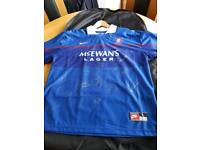 Rangers FC signed home shirt