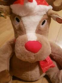 1 BRAND NEW SINGING AND DANCING RUDOLPH